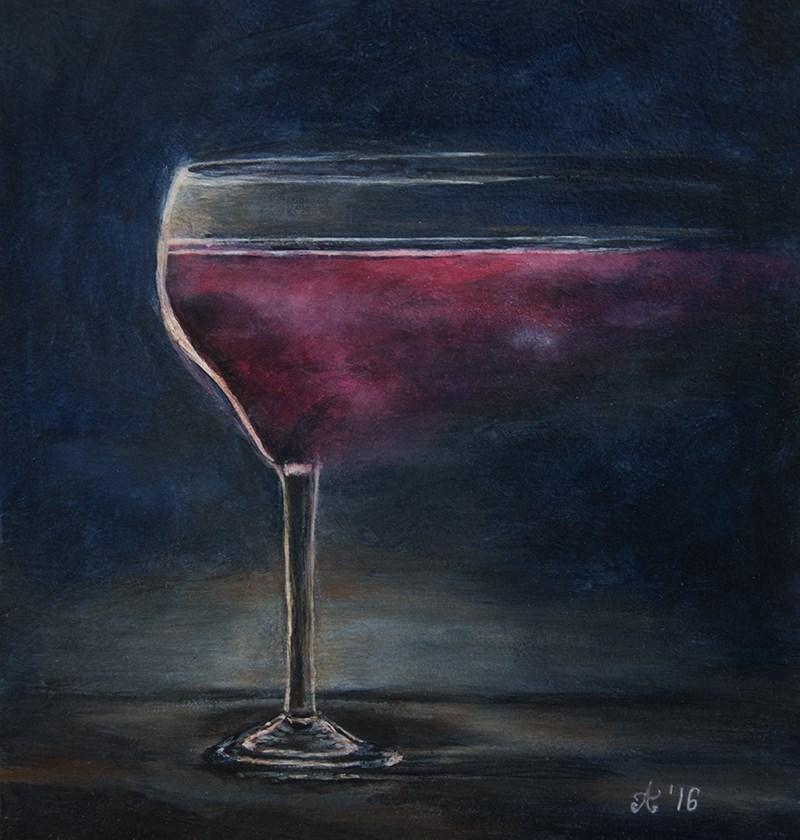 """Obraz akrylowy, """"Wino Kwantowe"""""""