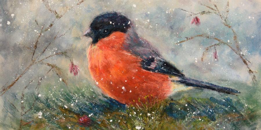 Nowy Obraz Gil Ptak Pastelowy Monika Wiśniewska Amaviael